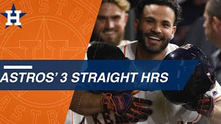 George Springer, Alex Bregman and Jose Altuve belt back-to-back-to-back home runs