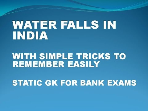 Famous Water Falls In India With Simple Tricks  (Static Gk For Bank Exams)