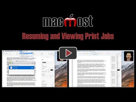 Resuming and Viewing Print Jobs (#1653)