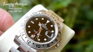 Rolex Explorer II Watch SS 16570 Sapphire Authentic Men
