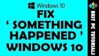 "Fix ""Something Happened"" Error |Windows 10 Upgrade"