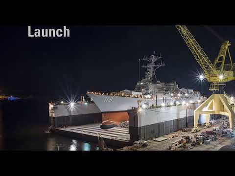 Ingalls Shipbuilding launches DDG 119
