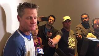 Steve Kerr reiterated that he's confident the Warriors can win two elimination games in a row