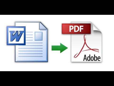 How to Convert a Microsoft Word Document to PDF Format
