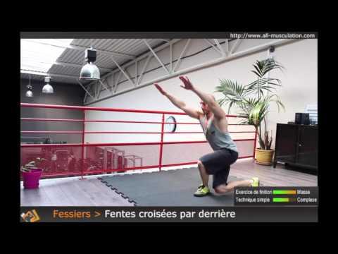 Exercice des Fentes croisées par derrière - Exo pour les Fessiers par All Musculation