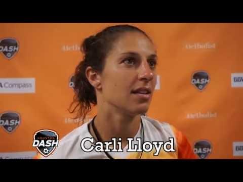 Carli Lloyd - Houston Dash vs Boston Breakers - Post game conference