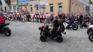 Augustowskie Motonoce 2016 parada przez miasto