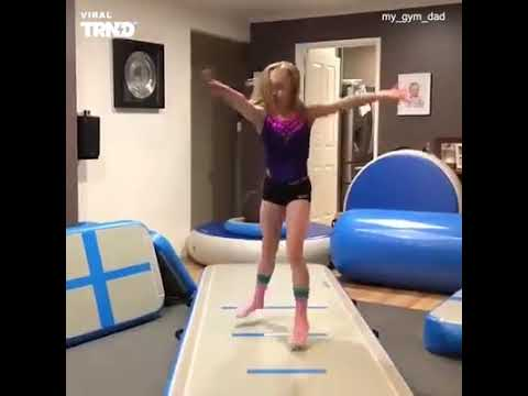 Palmer - Dad Tries His Best to Learn Daughter's Gymnastics