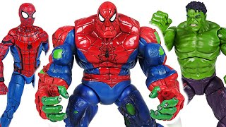 Marvel Avengers Hulk and Spider Man combine! Spider-Hulk!! Defeat the Thanos! #DuDuPopTOY