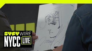 Jim Lee & Kim Jung Gi Dual Sketch Batman | NYCC 2018 | SYFY WIRE