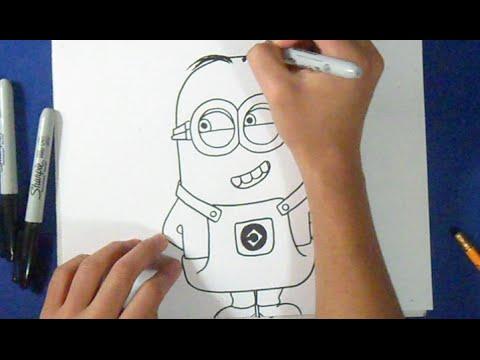 Cómo dibujar un Minion Fácil