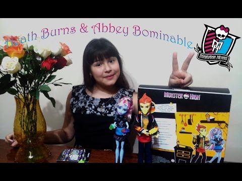 Heath Burns/Thomas Grame & Abbey Bominable обзор и распаковка кукол Monster High.