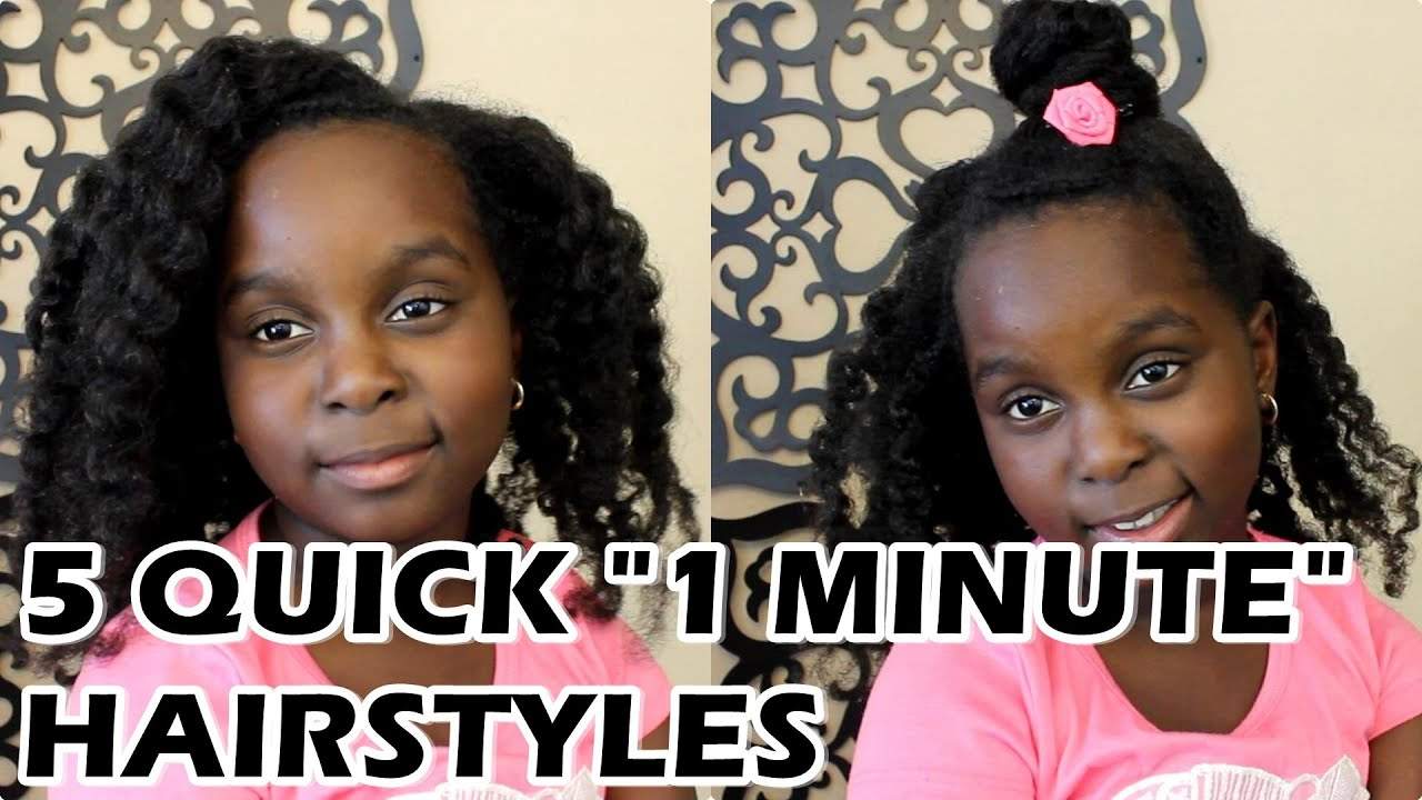 """5 SUPER Easy """"1 Minute"""" Natural Hair Hairstyles by Lil Sis ..."""
