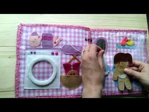 Felt Dollhouse Кукольный домик из фетра