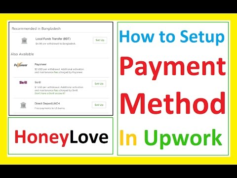 How to setup Payment Method in Upwork with payoneer local bank and others