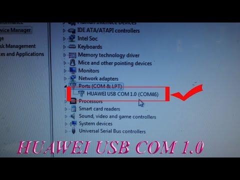 How To Install Huawei USB COM 1.0 (32/64) Bit USB SER Driver Install