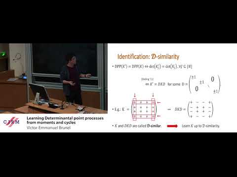 Victor-Emmanuel Brunel: Learning Determinantal point processes from moments and cycles