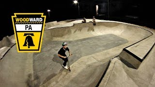 RIDING THE MOST INSANE CONCRETE SKATEPARK!!! (Woodward)