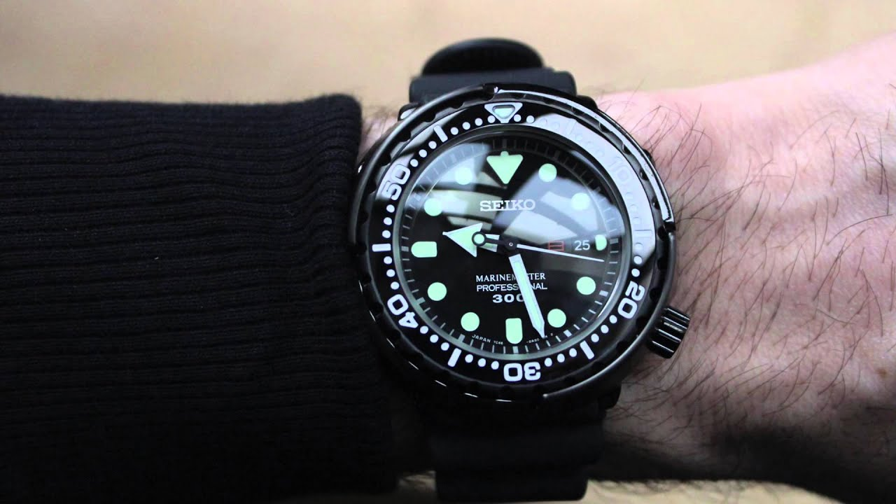 Seiko Marine Master 300m Quartz Tuna Review Sbbn035