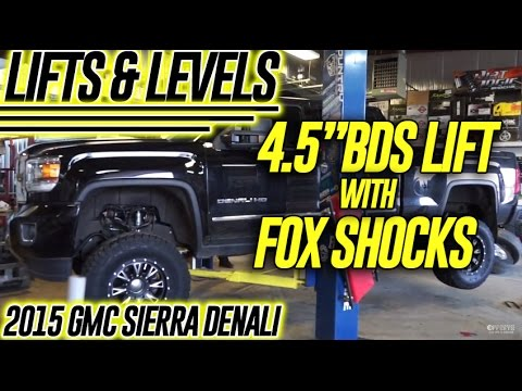 "Lift & Levels: 2015 GMC Sierra Denali, 4.5"" BDS Lift w/Fox ..."