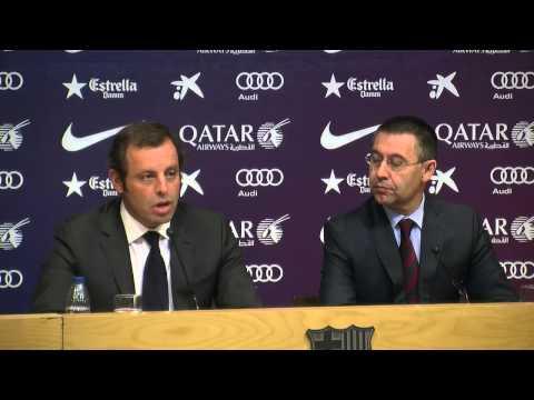 La compareixença de premsa íntegra de Sandro Rosell i Josep Maria Bartomeu