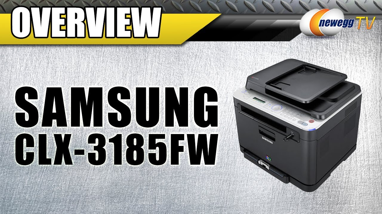 newegg tv samsung clx series clx 3185fw mfc color wireless laser printer overview youtube. Black Bedroom Furniture Sets. Home Design Ideas