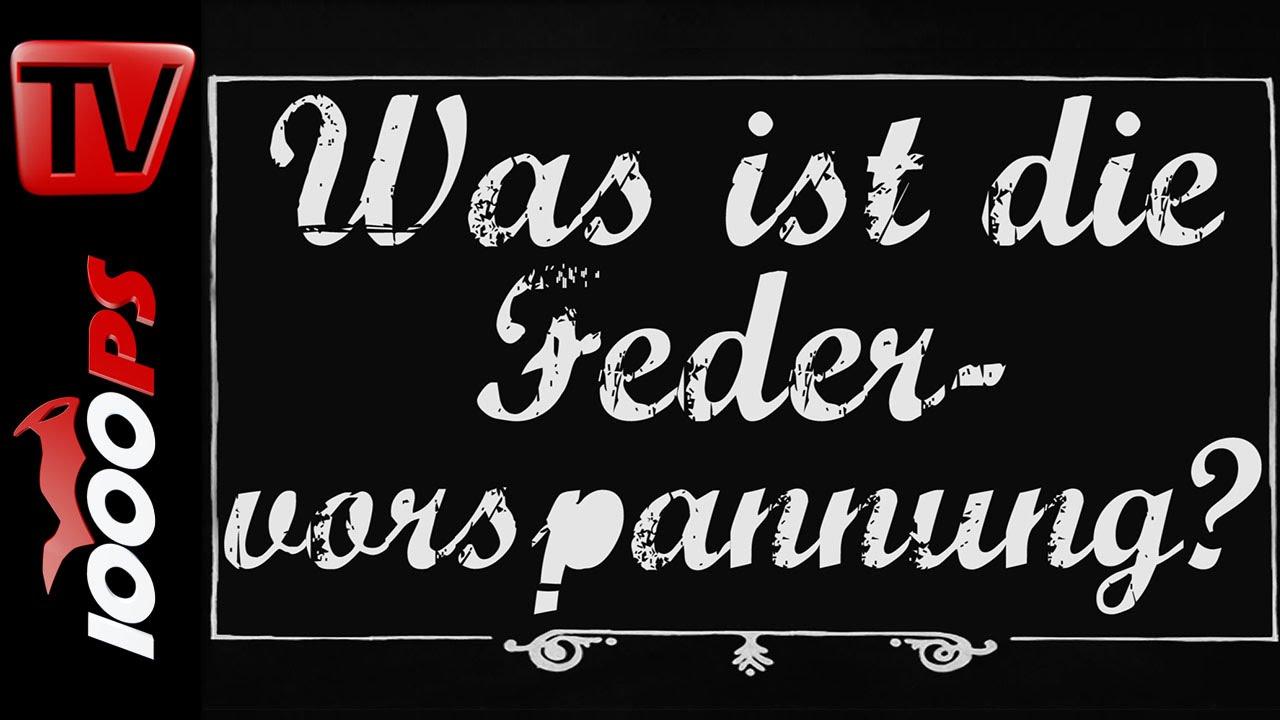 Was ist die Federvorspannung? - Motorrad Lexikon
