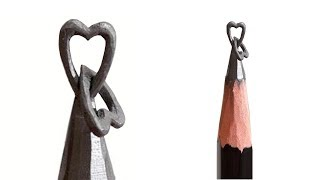 2 Hearts Together Pencil Carving | How to Pencil Carving 2 Hearts