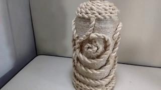 Garrafa 2 Litros com barbante e corda