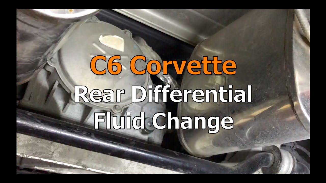 C6 Corvette Rear Differential Fluid Change