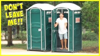 WE LEAVE JESSE IN A PORT-A-POTTY!! SUPER STINKY AND STRANDED!!