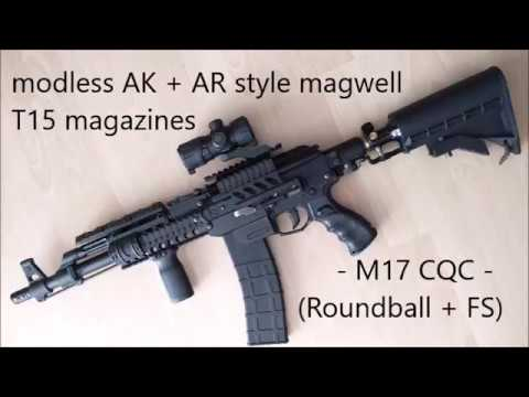 modless AK and AR style magwell for T15 magazines / Milsig M17 CQC