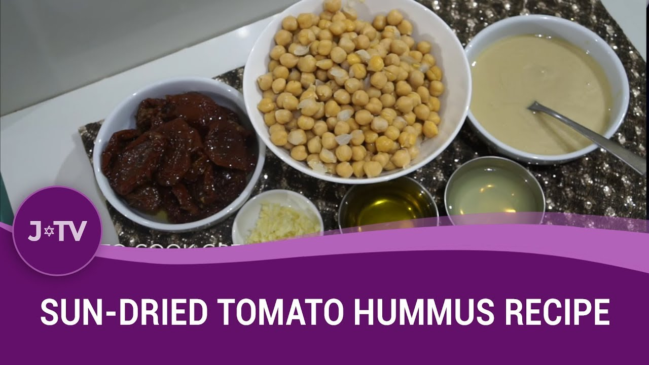 Sun dried tomato hummus recipe jewish food j tv youtube sun dried tomato hummus recipe jewish food j tv forumfinder Image collections