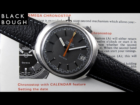 Omega Chronostop Driver's Genève Ref. 146.010 vintage wristwatch, circa 1969