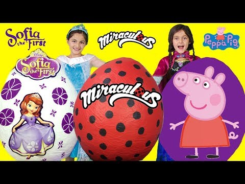 FROZEN Elsa Miraculous + Peppa Pig + Sofia the First Giant T
