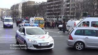 Police and Ambulance Convoys in Paris