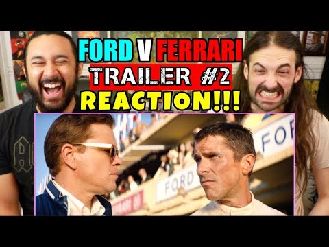 FORD v FERRARI | TRAILER #2 - REACTION!!!