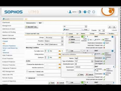 How To set up NAT on Sophos UTM