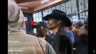 Clear video of (Cowboy) nipsey hussle friend acting suspicious did he setup nipsey you tell me?