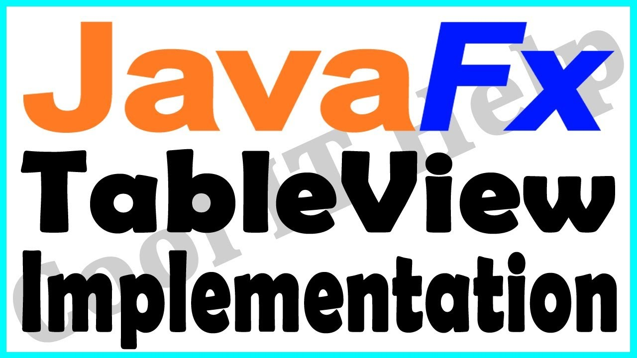 Javafx tableview implementation javafx tutorial youtube javafx tableview implementation javafx tutorial baditri Images