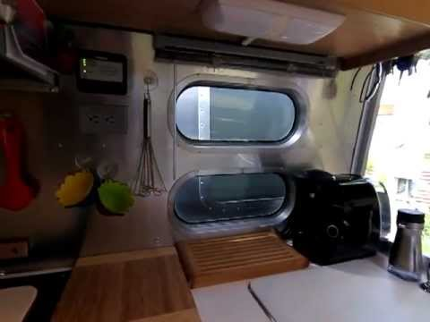 Modern Airstream Travel Trailer Interior U0026 Organization Virtual Tour