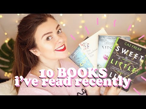 10 BOOKS I'VE READ RECENTLY - THRILLERS, YA, FICTION BOOK HAUL