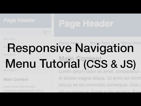 Responsive Web Design Navigation Menu Tutorial