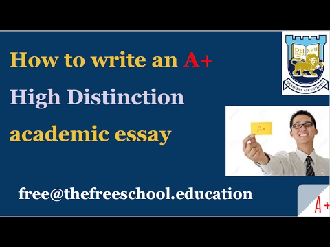 how to write an a high distinction essay paper  how to write an a high distinction essay paper