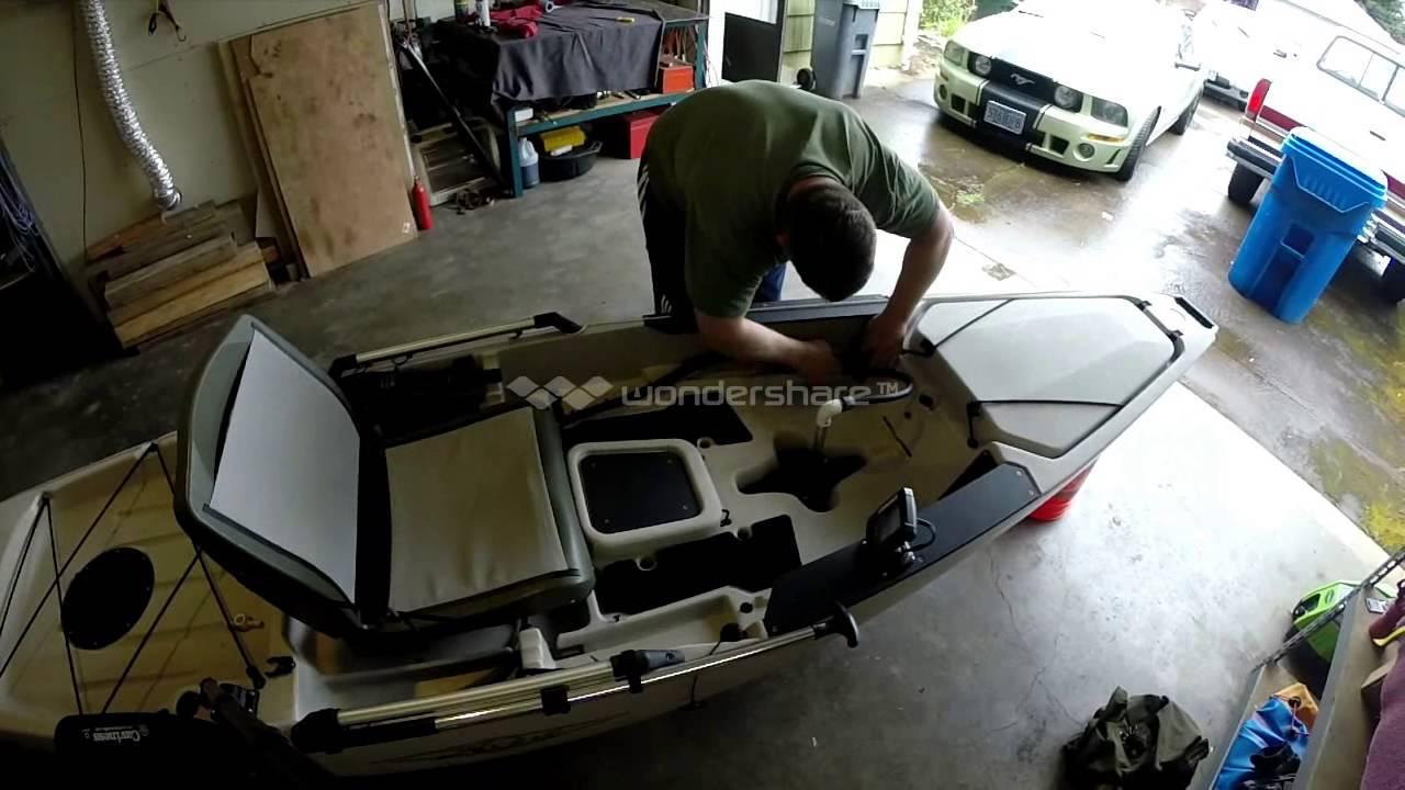 30 Lb Trolling Motor Hobie Pro Angler Kayak Youtube
