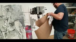 How To Paint A Large Abstract Painting - Acrylic on Canvas - Artist Jose Trujillo