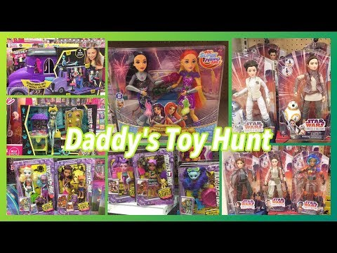 Daddy's Toy Hunt – MH Monster Family & Deluxe School Bus, Star Wars Forces of Destiny, Blackfire!!!!