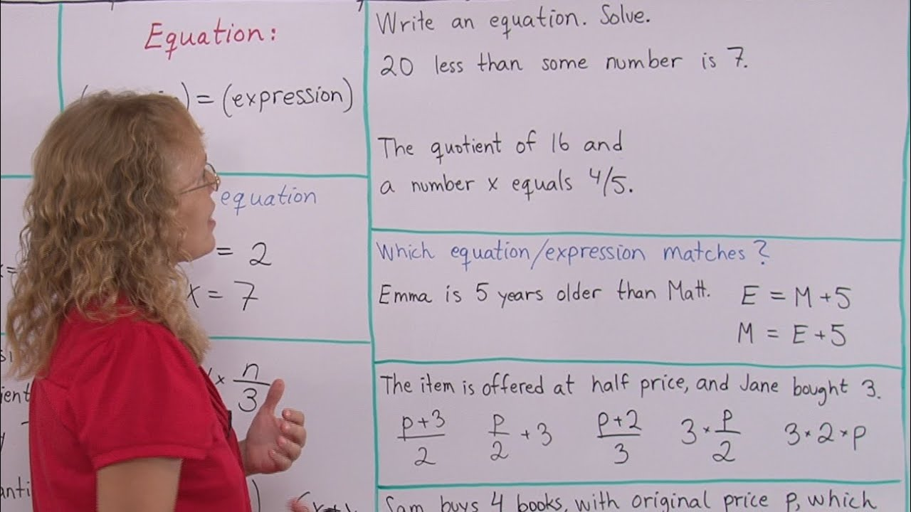 Working With Expressions And Equations Pre Algebragrade 7 Math