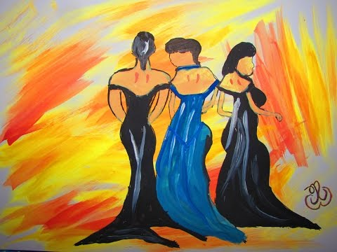 Three Ladies – Abstract Painting for Beginners