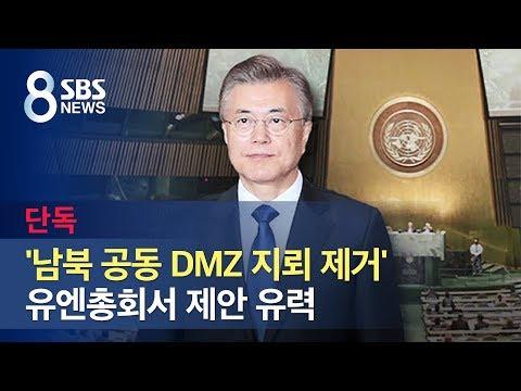 [단독] 유엔총회서 '남북 공동 DMZ 지뢰 제거' 제안 유력 / SBS